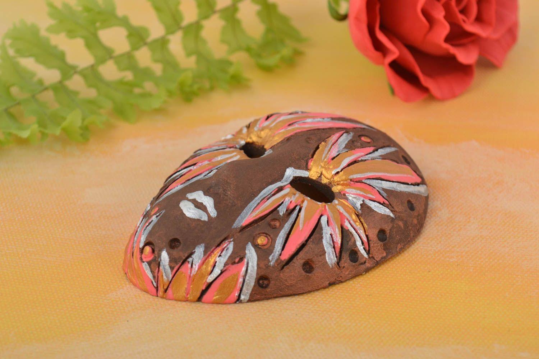 Decorative fridge magnet mask ceramic handmade mask decorative use only photo 1