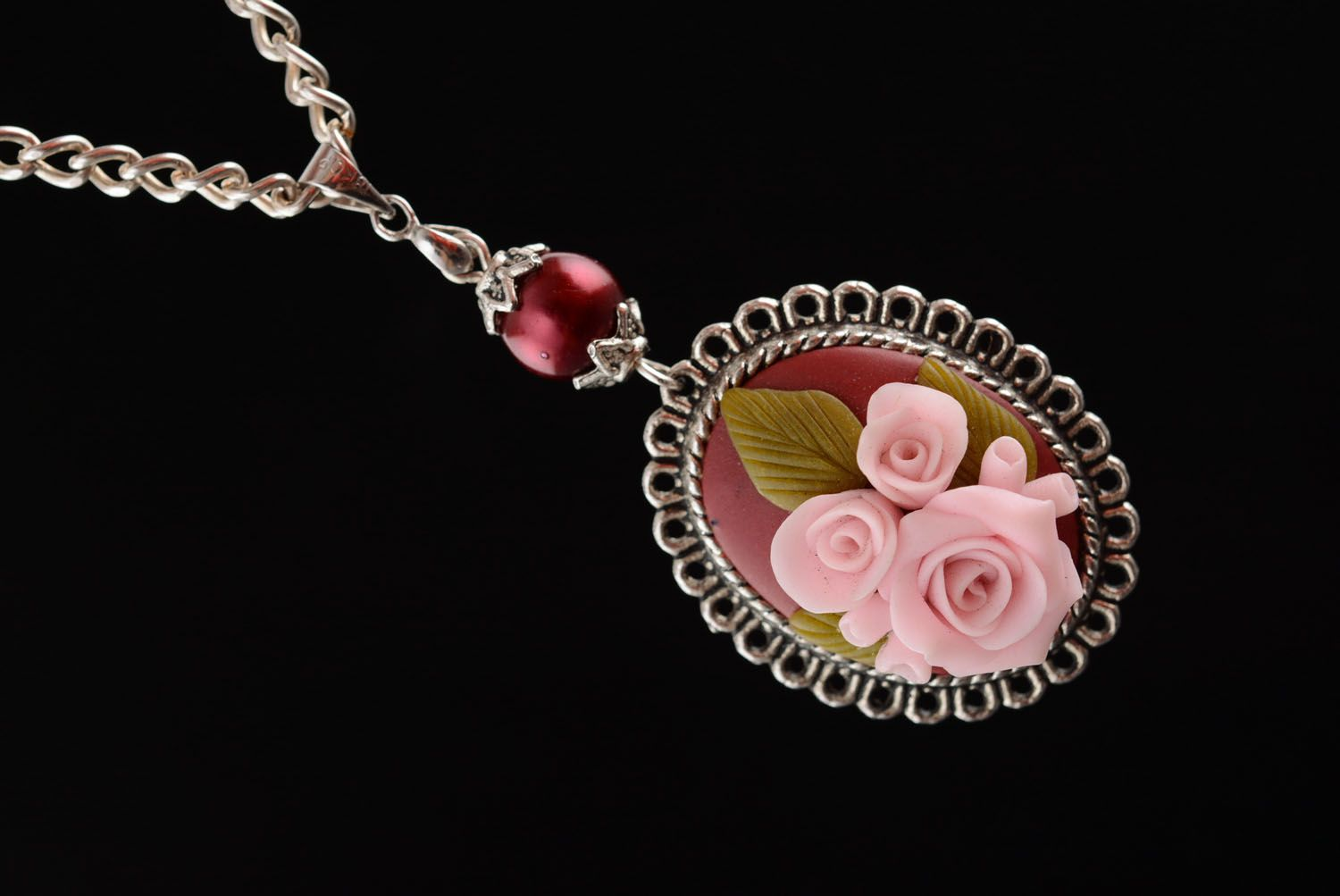 Plastic jewelry set Roses photo 4