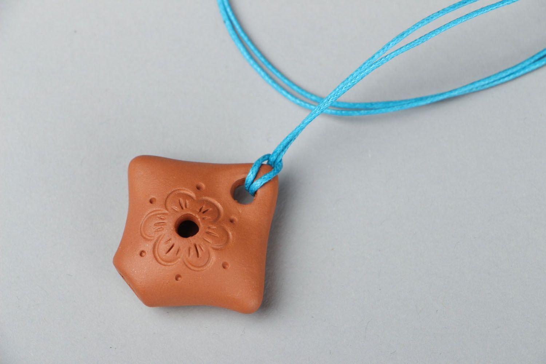 Кулон из глины Свистулька фото 1