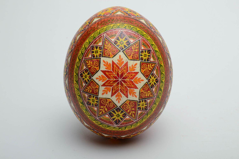 ostrich easter eggs Handmade wax painted egg - MADEheart.com