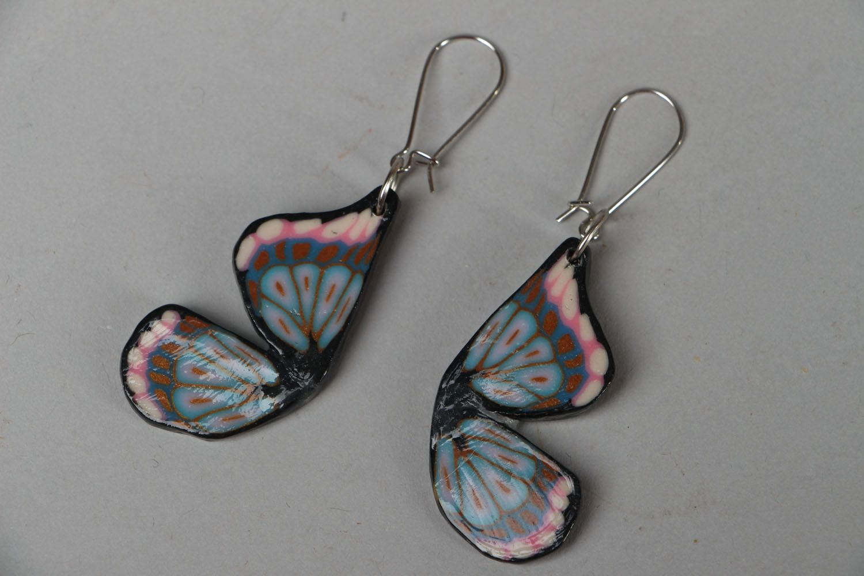 Graue Ohrringe aus Polymer Ton foto 1