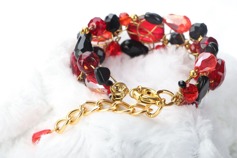 Wrist bracelet with agate photo 3
