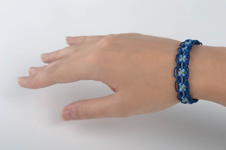 Macrame bracelet handmade friendship bracelet woven jewelry designer accessories photo 5