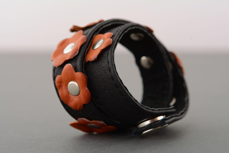 Leather double wrap bracelet photo 3