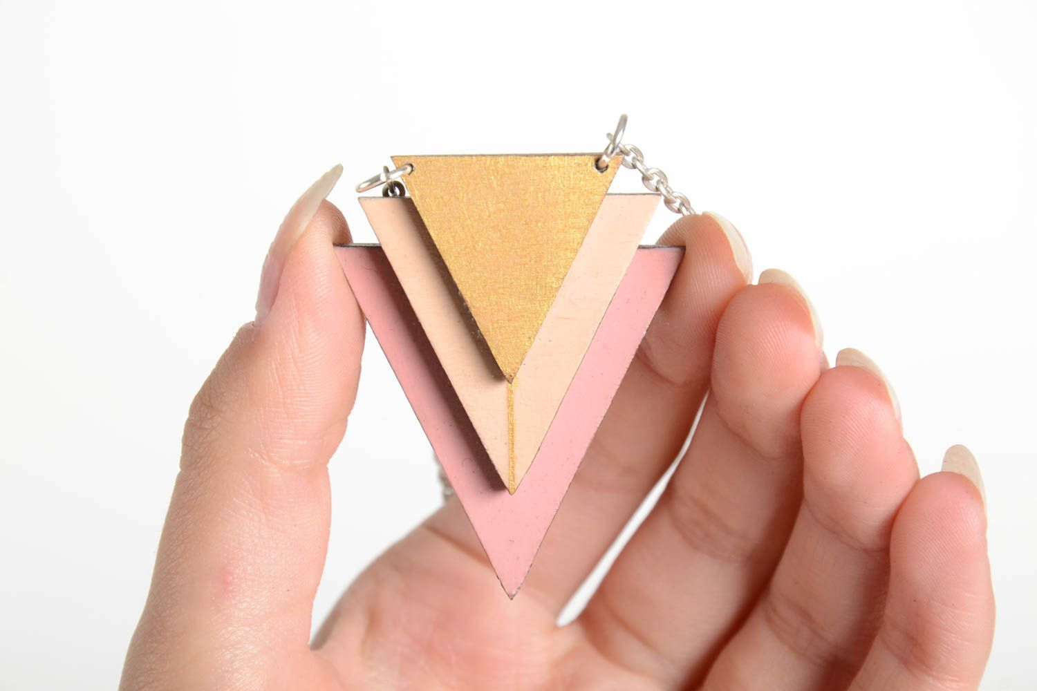 Unusual handmade wooden pendant wood craft costume jewelry gifts for her photo 5