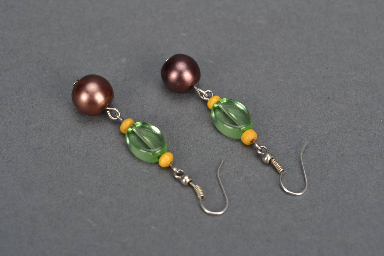 Homemade beaded earrings photo 4