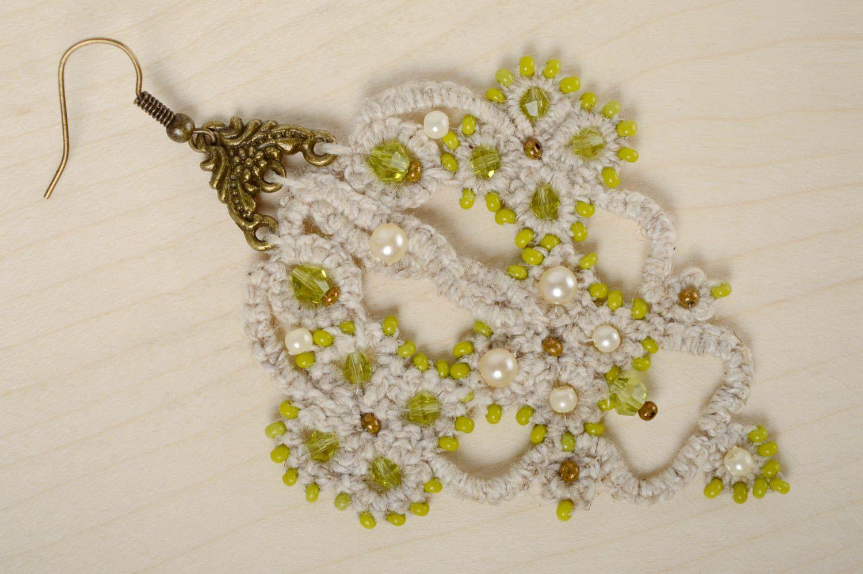 Lacy crochet earrings Orient photo 1