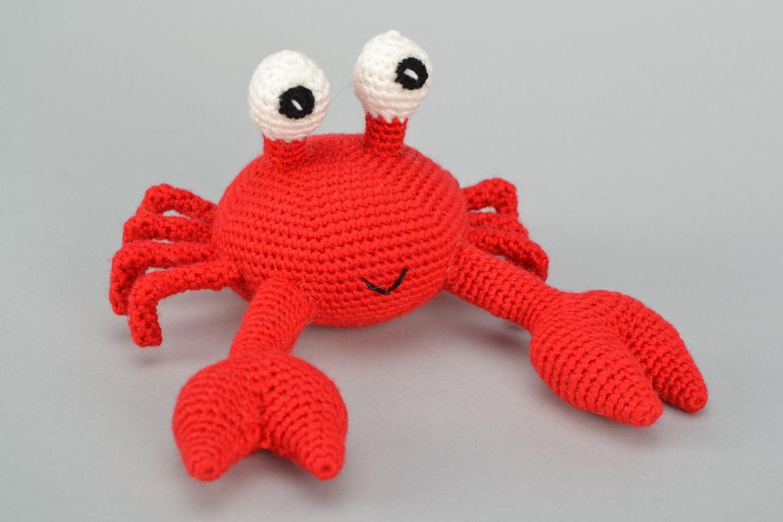 Handmade soft crochet toy Crab photo 1