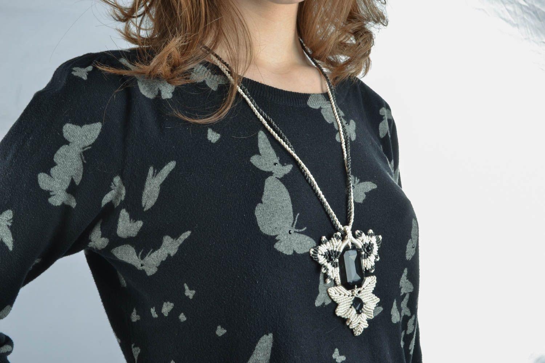Macrame necklace photo 5