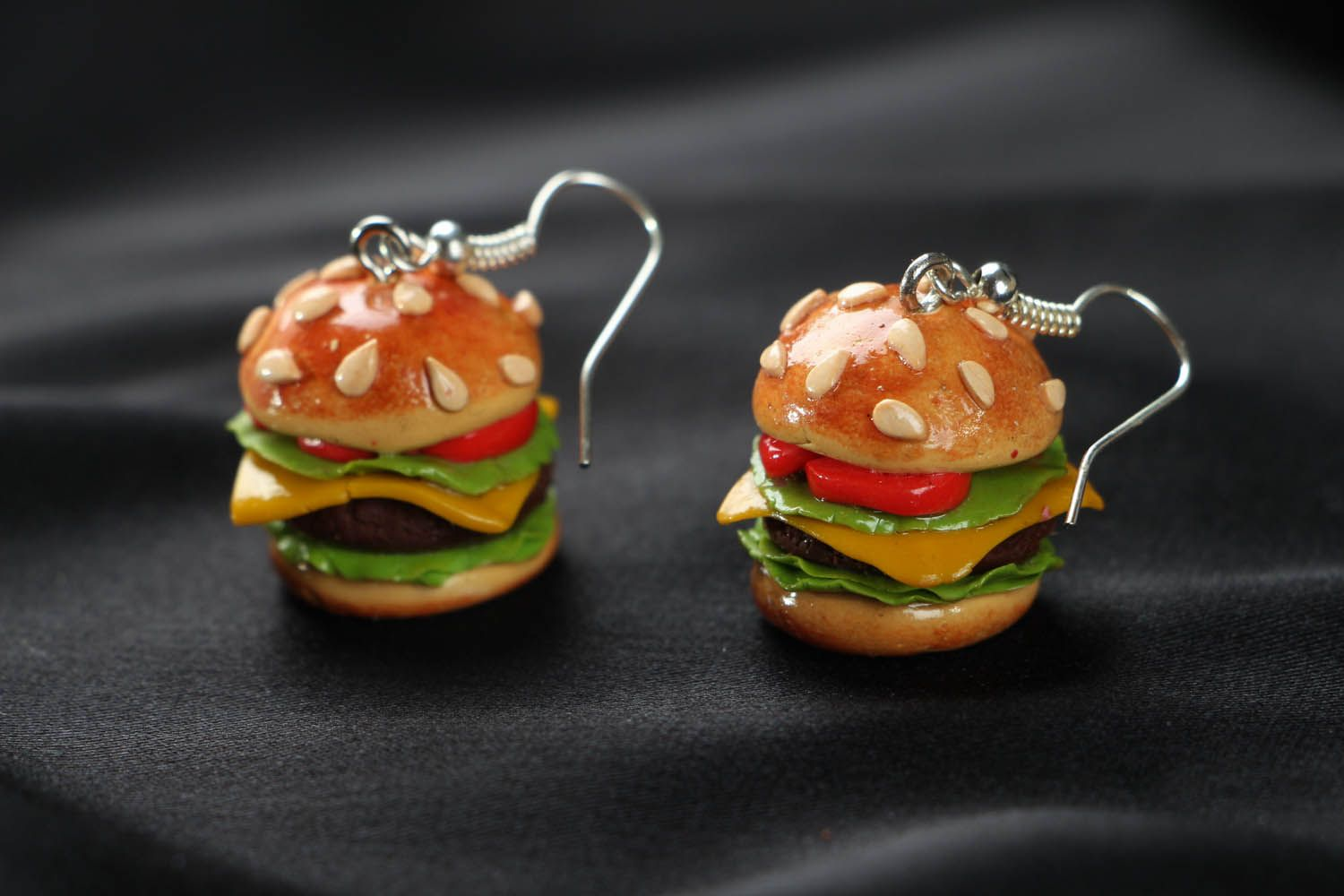 Cute polymer clay earrings  photo 1