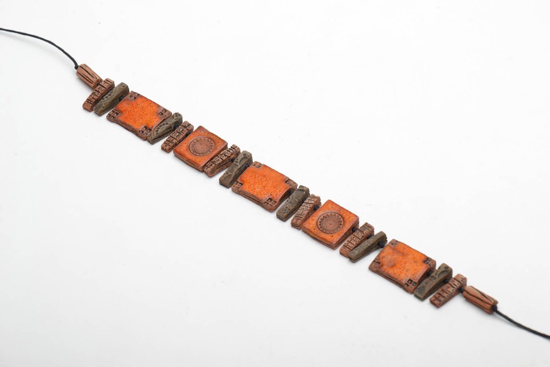 Ethnic ceramic necklace photo 3