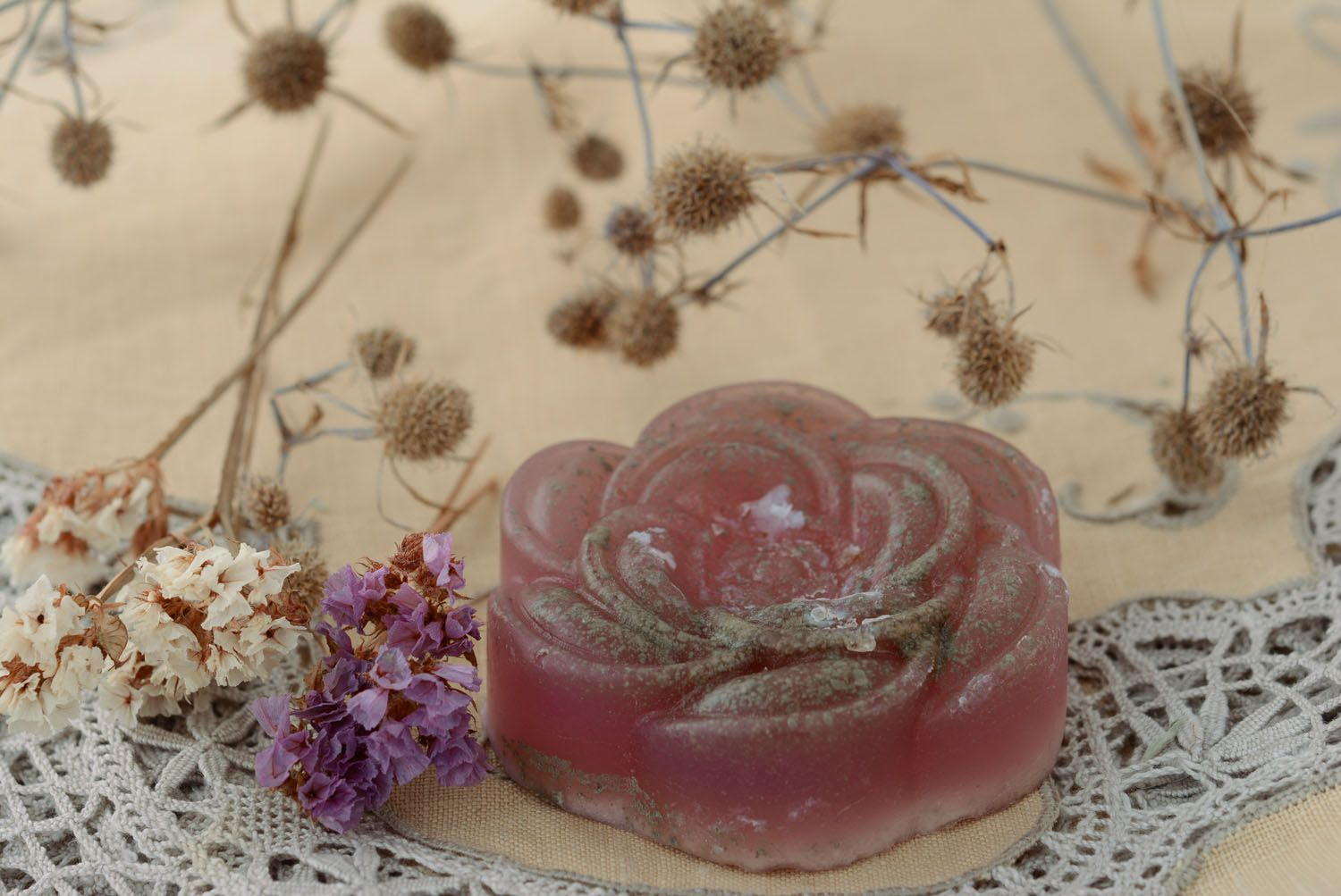 Natural soap with blue clay photo 4