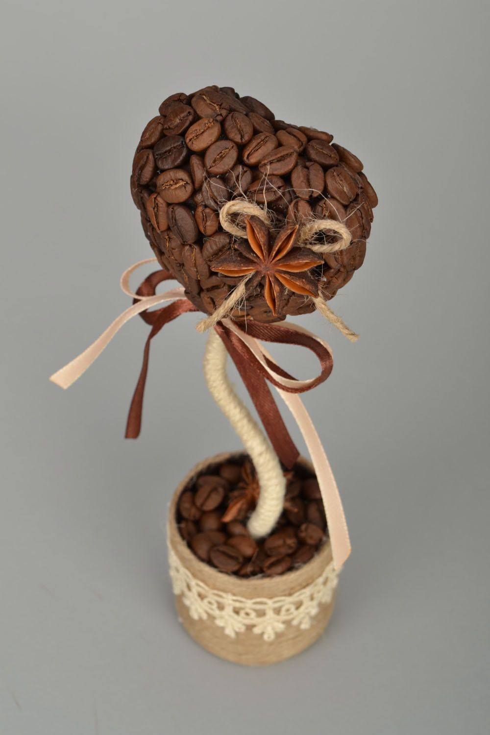 Handmade coffee topiary photo 5