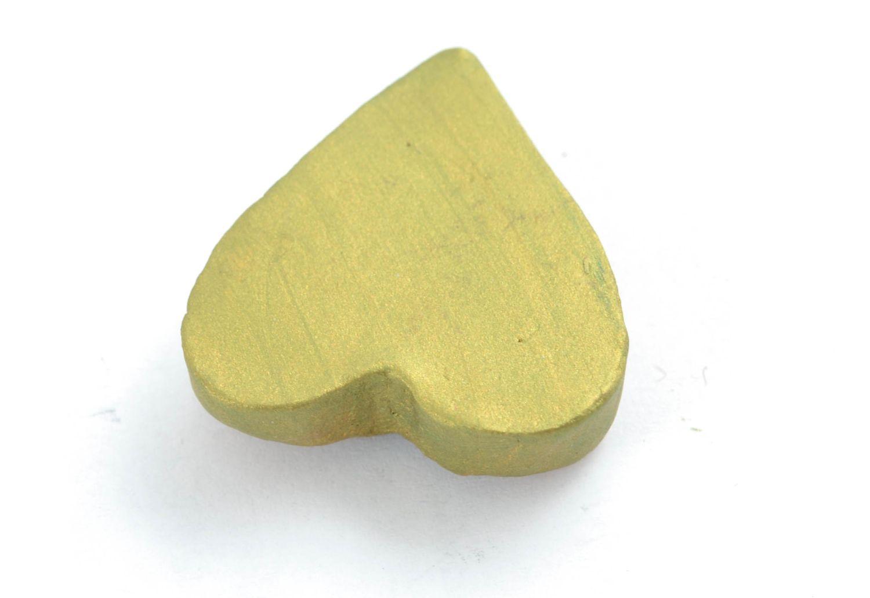 Ceramic fridge magnet in the shape of lime heart photo 4