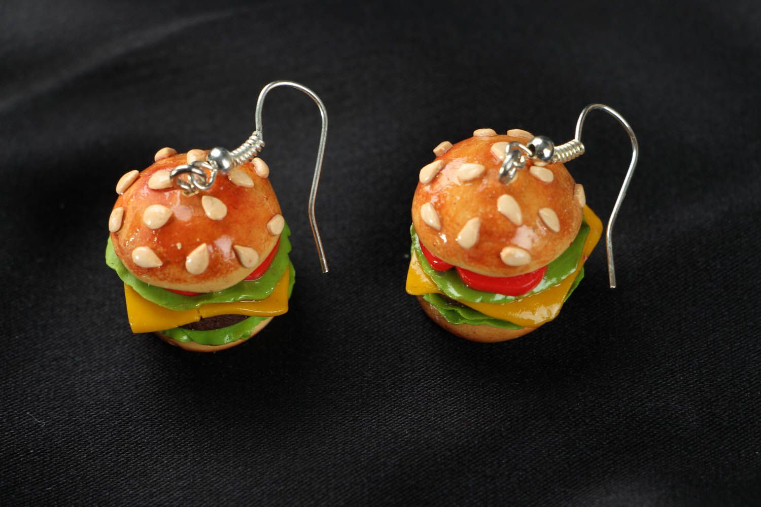 Cute polymer clay earrings  photo 2