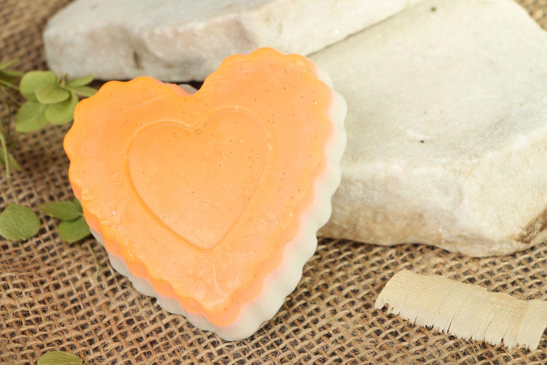 Homemade soap with cinnamon Heart photo 5