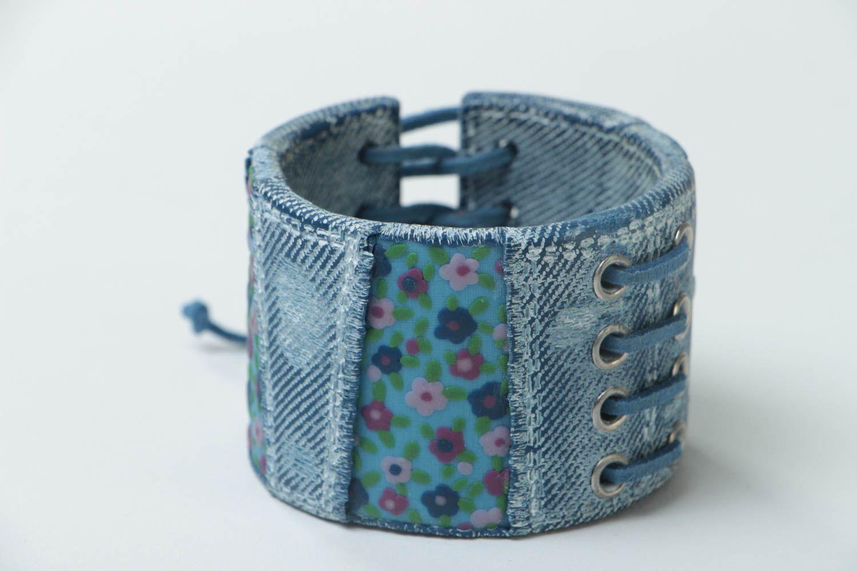Bracelet large en pâte polymère Bijou fait main original Cadeau pour femme photo 1