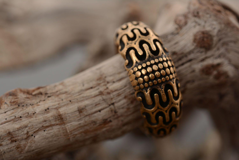 Bronze ring Scandinavia photo 2