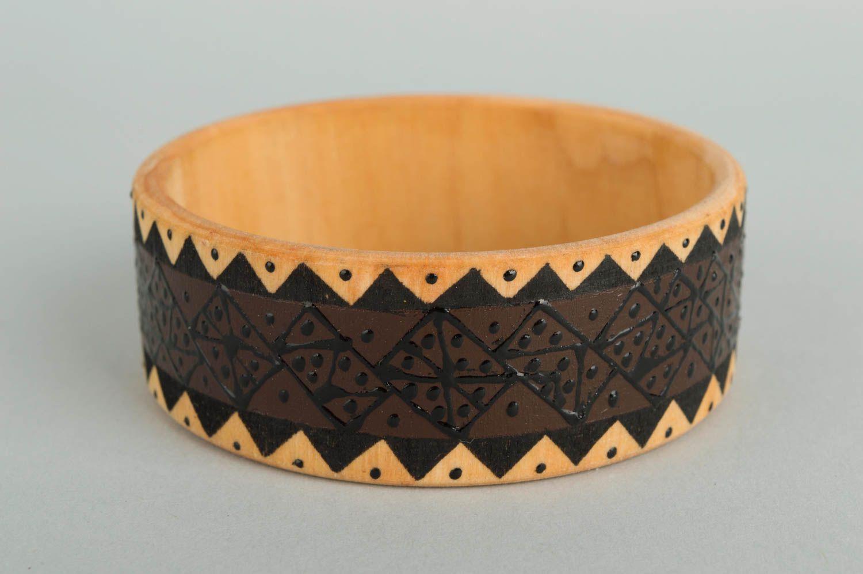 Браслеты ручной работы браслет из дерева красивый браслет дизайнерское украшение фото 3