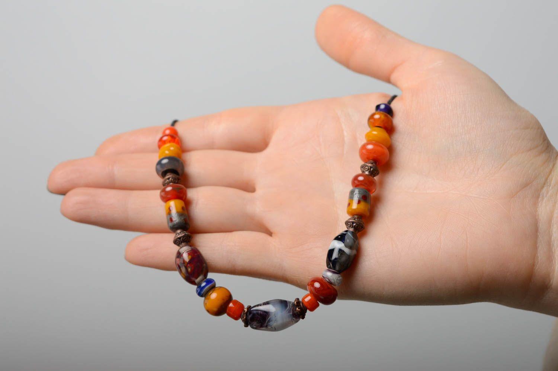Handmade lampwork necklace Masha photo 5