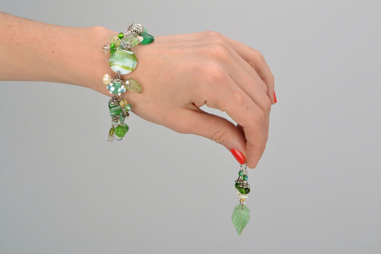 Set of glass jewelry photo 2