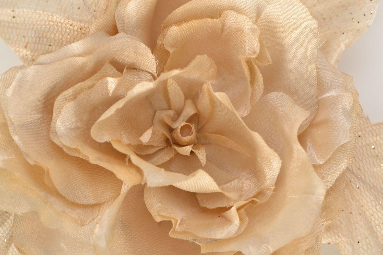 Fabric brooch Gardenia photo 3