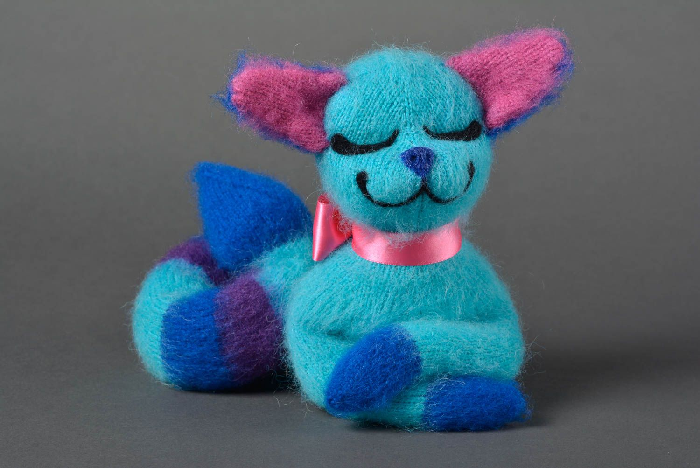 MADEHEART > Kuscheltier Katze blau handgemachtes Stoff Spielzeug ...