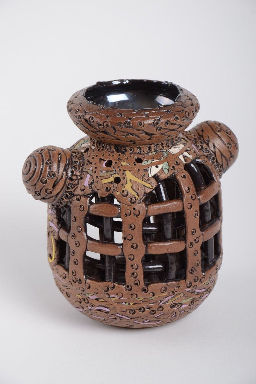 Handmade table decor beautiful ceramic candlestick stylish candlestick photo 2