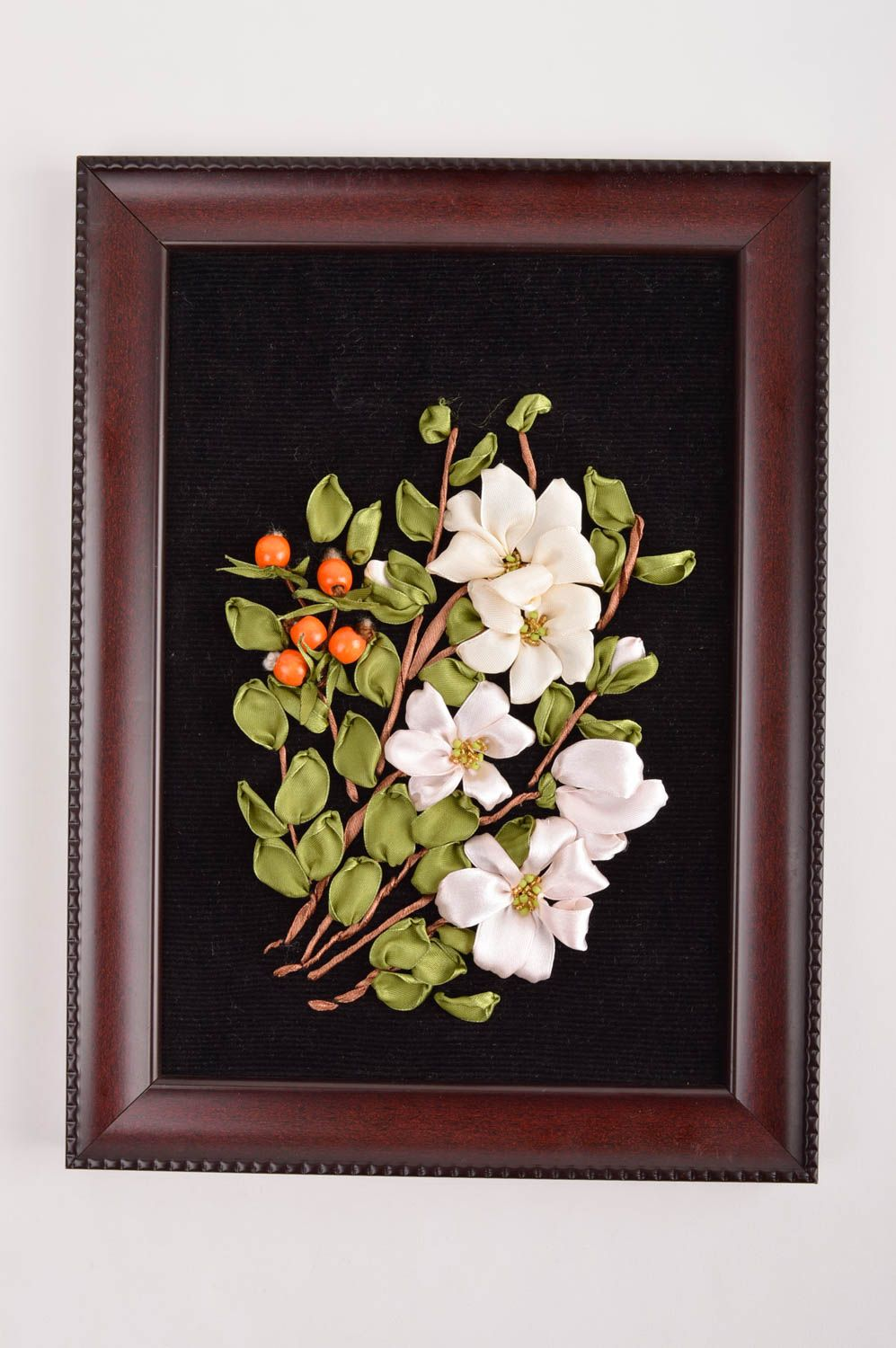 Madeheart gt handmade ribbon embroidery wall panel picture