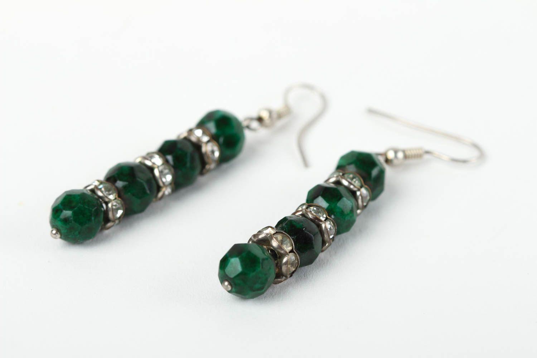 Beautiful handmade beaded earrings gemstone earrings costume jewelry designs photo 3