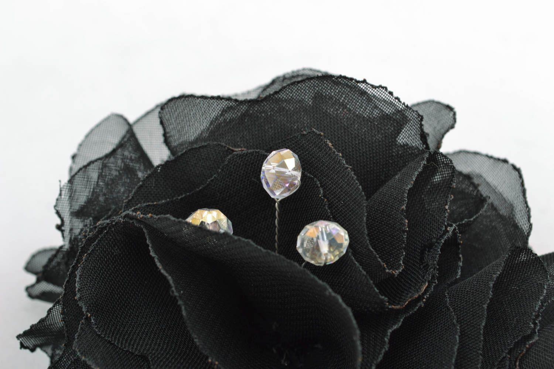 Designer floral brooch Black photo 3