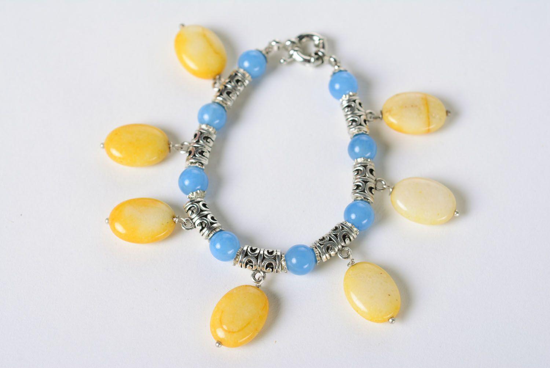Наручный браслет из натуральных камней фото 3