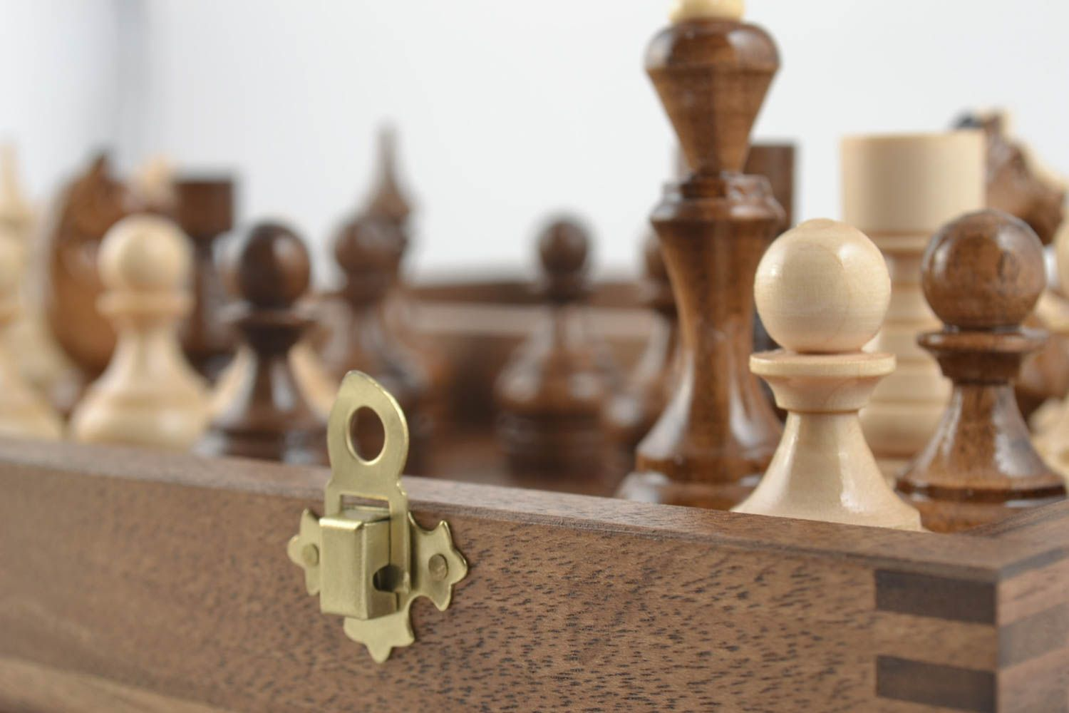 Handmade board games wooden chessboard chess pieces best gifts for him photo 4
