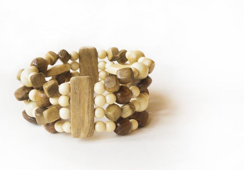 Wooden multi-row bracelet photo 1