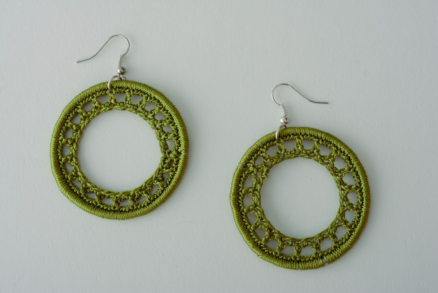Homemade woven earrings photo 1
