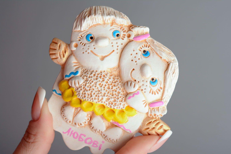 Homemade clay fridge magnet Children photo 3