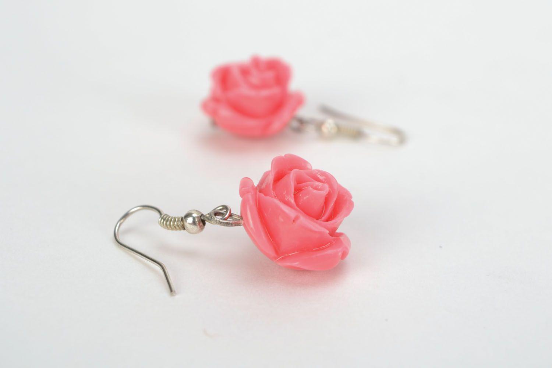 Dangling earrings Roses photo 4