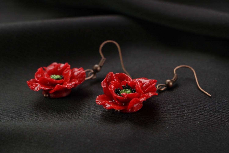 Earrings Poppies photo 2