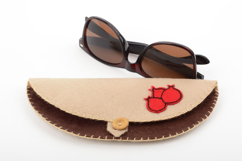 glasses cases Handmade felt eyeglasses case glasses case handmade accessories small gifts - MADEheart.com