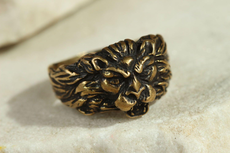 Löwenkopf Ring foto 1