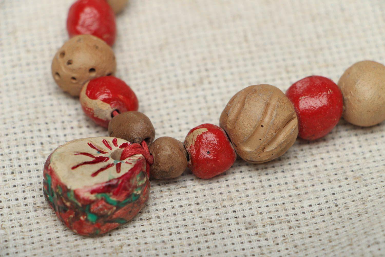 Ethnic bead necklace photo 3