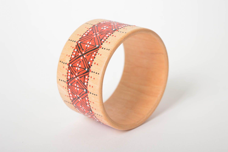 Handmade Wooden Cute Bracelet Unusual Designer Stylish Jewelry