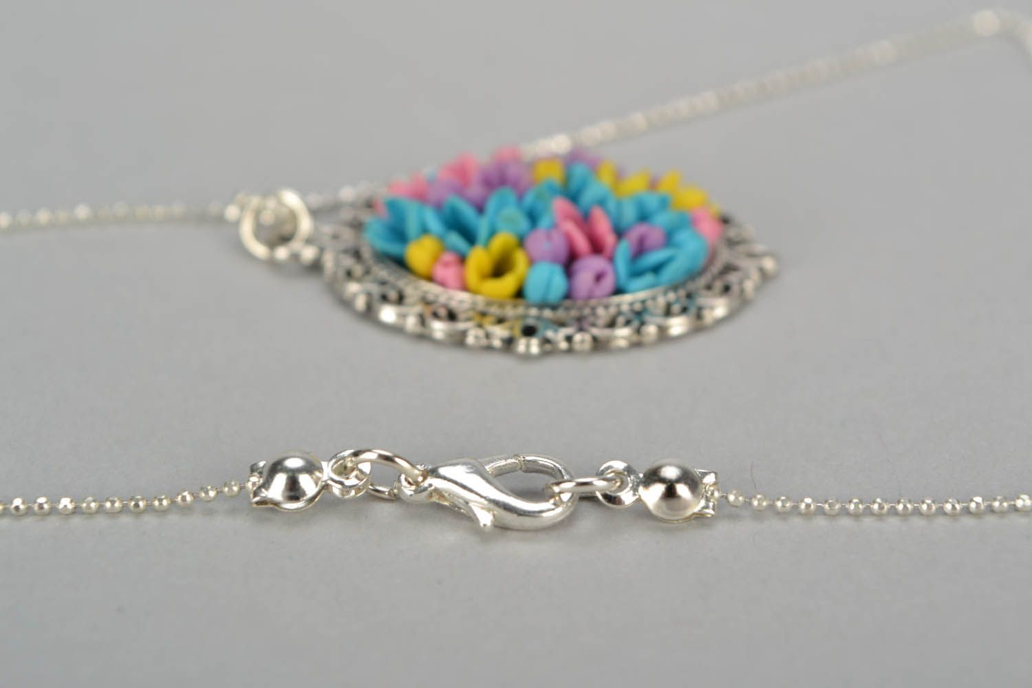 Pendant with long chain Field Bouquet photo 5