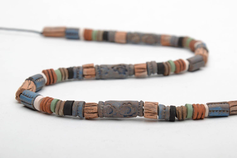 Handmade ceramic necklace photo 5