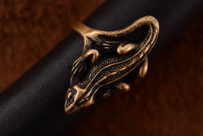 Бронзовое кольцо Саламандра фото 3