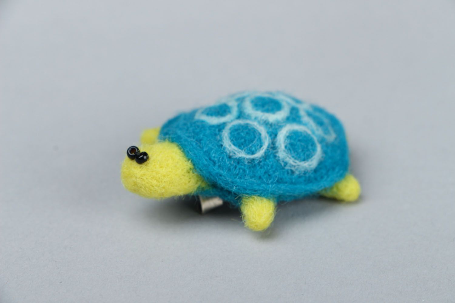 Brooch made of felted wool Turtle photo 3