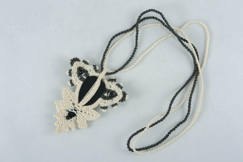 Macrame necklace photo 1
