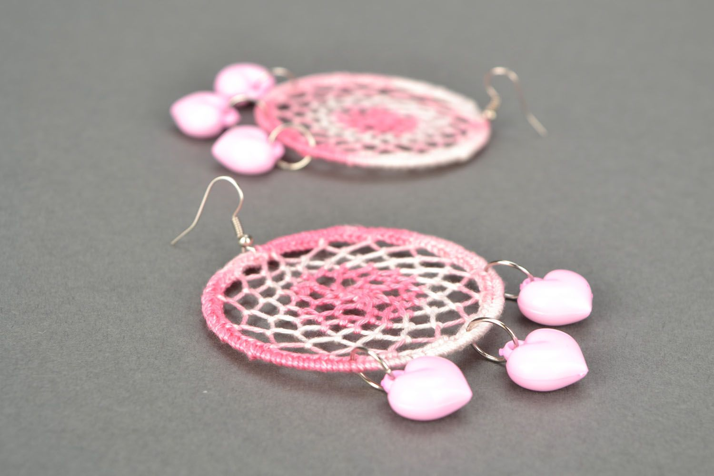 Lace earrings Dream Catcher photo 4