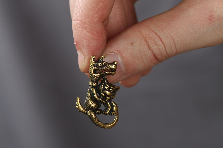 Bronze pendant Love is Evil photo 3