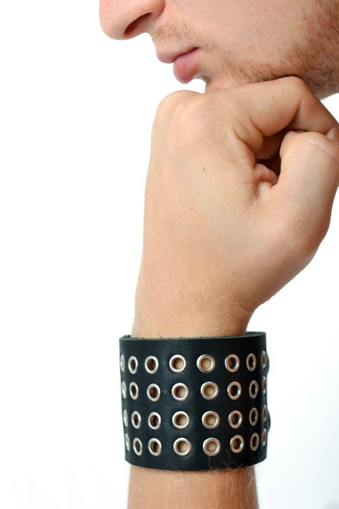 Leather wrap bracelet handmade jewelry men accessories handmade leather goods photo 1